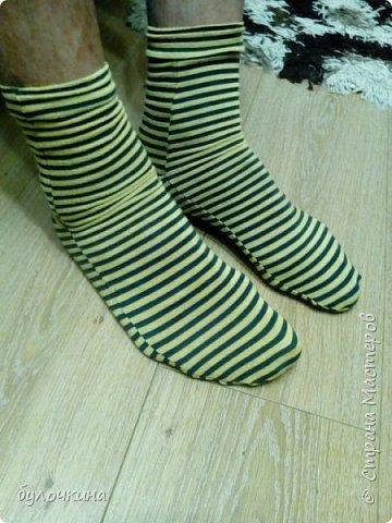 Сшила носочки из остатков трикотажа. фото 1
