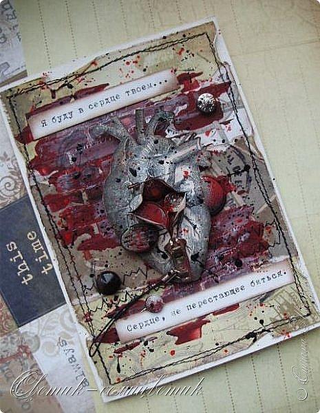 Здравствуйте все! Открытки сделаны на вебинаре Ольги Знаменской (Пастила) на Скрап-интенсиве. Никогда не делала ничего подобного и даже не испытывала тяги к этому, скорее, наоборот:) А сейчас почему-то очень-очень захотелось... Первая открытка. Она еще более мягкая... фото 6