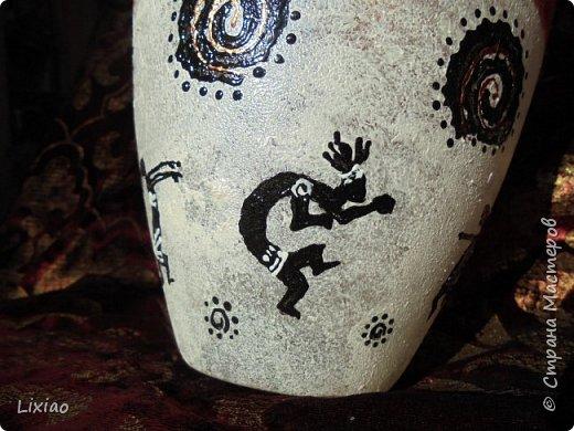 Доброго времени суток, каждому заглянувшему! Обязательные моменты в задумке были: человечки из африканского племени и разделение вазы на две части. Итог перед Вами. фото 8
