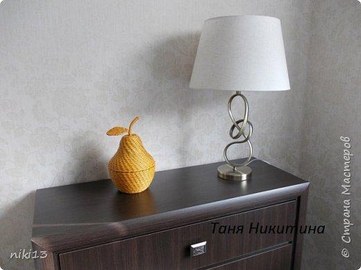 Здравствуйте, дорогие мои! В пару к яблочку (адрес: http://stranamasterov.ru/node/1011836) сплелась вот такая груша. Спасибо Леночке Талайковой за МК (адрес: https://vk.com/album-83422293_233631044) . Ширина полосы 7 см, спица 1,5 мм, водная морилка Лиственница. фото 9