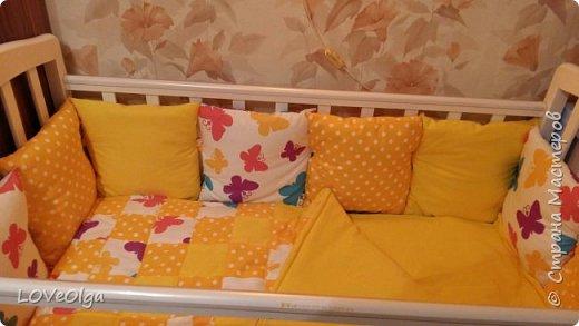 Подушки-бортики и одеяло