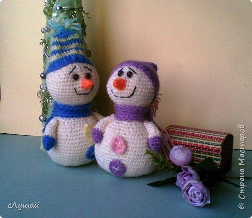 В просторах интернета попался МК Марии Овчинниковой, очень захотелость сделать таких вот снеговичков фото 4