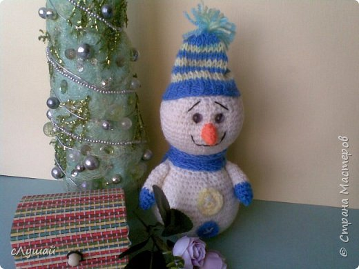В просторах интернета попался МК Марии Овчинниковой, очень захотелость сделать таких вот снеговичков фото 2