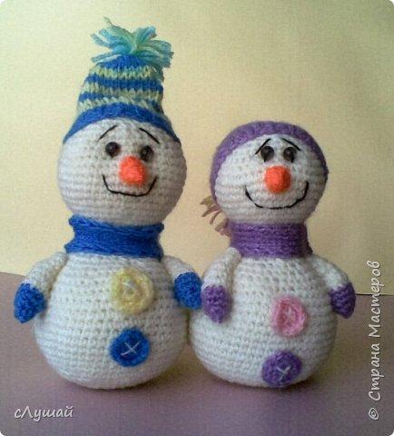 В просторах интернета попался МК Марии Овчинниковой, очень захотелость сделать таких вот снеговичков фото 1