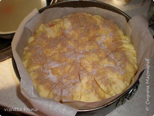 это просто изумительный яблочный пирог!это,наверное,самый лучший пирог,какой я вообще пробовала! Приготовите-не пожалеете!Нежнейший бисквит на котором красуются яблочки! Мокрый,сочный и очень нежный! фото 9