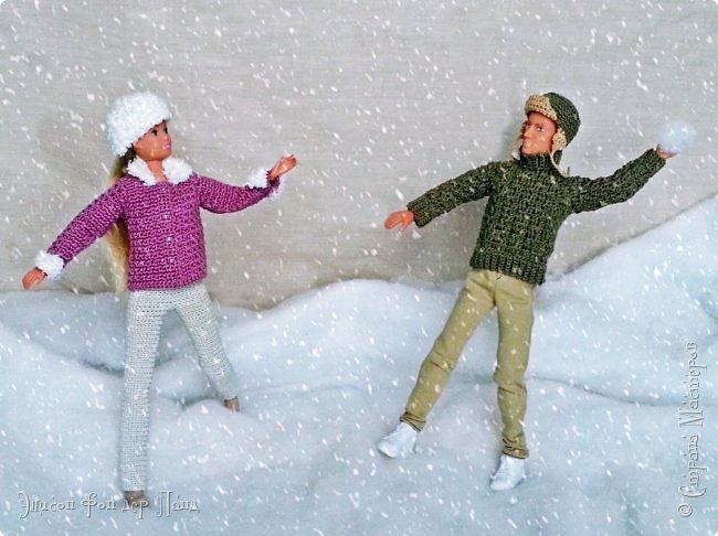 Зима в этом году решила прийти раньше срока. Еще листья с деревьев не успели опасть полностью, когда все окрестности завалило снегом. Наша милая парочка, Лия и Леон, воспользовались романтикой момента и, утеплившись, выбрались на свидание))) фото 3
