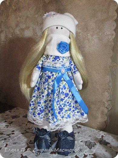 Куколка Снежка, первая проба, получилась очень милой и нежной девочкой, спасибо мастерицам Страны за подробные мастер-классы!!! фото 1