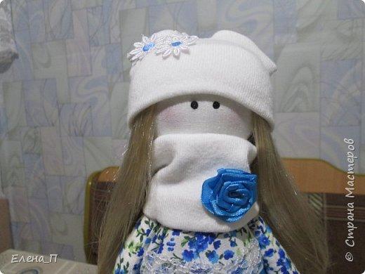 Куколка Снежка, первая проба, получилась очень милой и нежной девочкой, спасибо мастерицам Страны за подробные мастер-классы!!! фото 3
