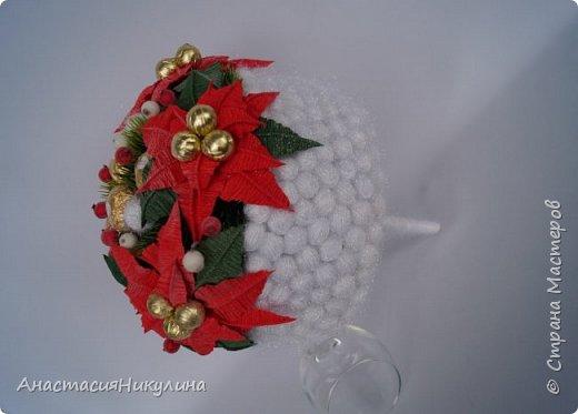 Рождественский букет невесты  участвующий в показе на фестивале Свит-дизайна. фото 2