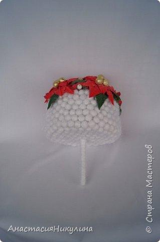 Рождественский букет невесты  участвующий в показе на фестивале Свит-дизайна. фото 4