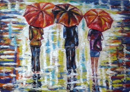 Осень. Дождливая пора, сырость.... А, ну и пусть дождь.... Есть же яркие зонтики!  фото 2