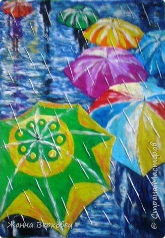Осень. Дождливая пора, сырость.... А, ну и пусть дождь.... Есть же яркие зонтики!  фото 3
