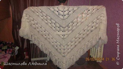 Одна из моих первых шалей.  фото 3