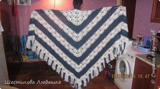 Одна из моих первых шалей.  фото 1