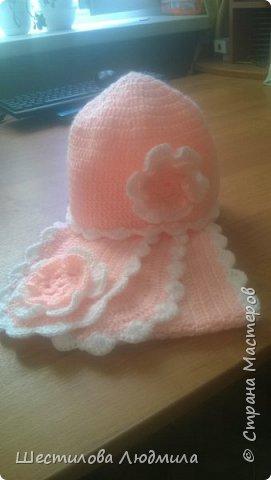 Котошапка и шарфик для средней дочки. фото 6