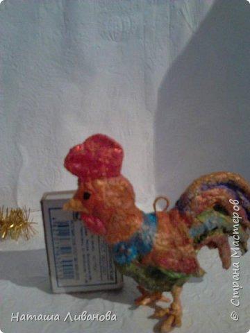 Мои елочные игрушки за прошлые годы...эти из ваты. Фотограф из меня как...снегирь из глухаря...неважный.)))  фото 7