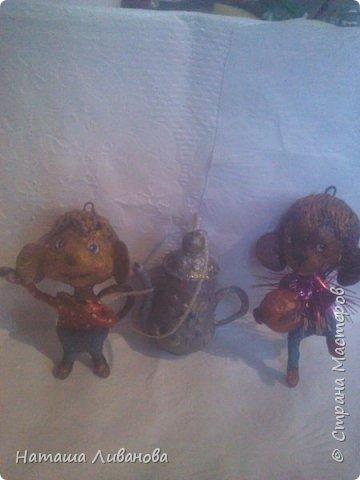 Мои елочные игрушки за прошлые годы...эти из ваты. Фотограф из меня как...снегирь из глухаря...неважный.)))  фото 5