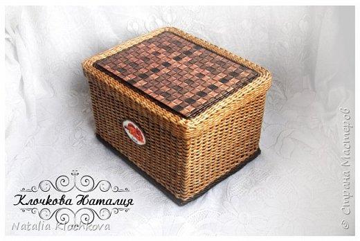 Всем привет! У меня сплелась новая коробочка, для хлеба. Заказал мужчина. Размер: 23 см х 30 см, высота 22 см. фото 3