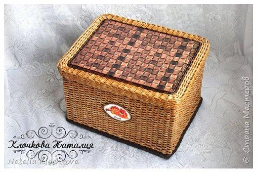 Всем привет! У меня сплелась новая коробочка, для хлеба. Заказал мужчина. Размер: 23 см х 30 см, высота 22 см. фото 6