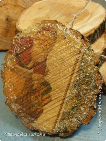 Доброе время суток Страна..... забрала из сада деревянные заготовочки и немного задекупажила....... фото 7