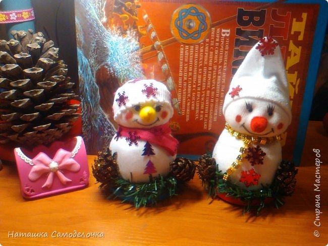 Привет,вот такие получились снеговики, всем хватит)))8 штук.Приятного просмотра. фото 1