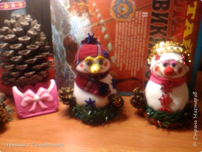 Привет,вот такие получились снеговики, всем хватит)))8 штук.Приятного просмотра. фото 2