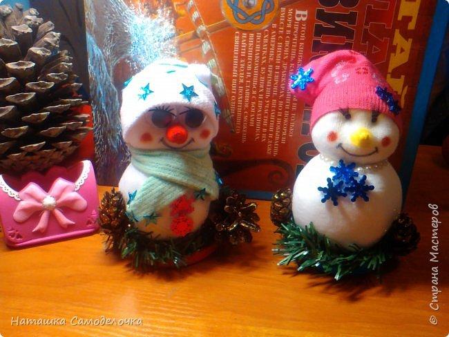 Привет,вот такие получились снеговики, всем хватит)))8 штук.Приятного просмотра. фото 4