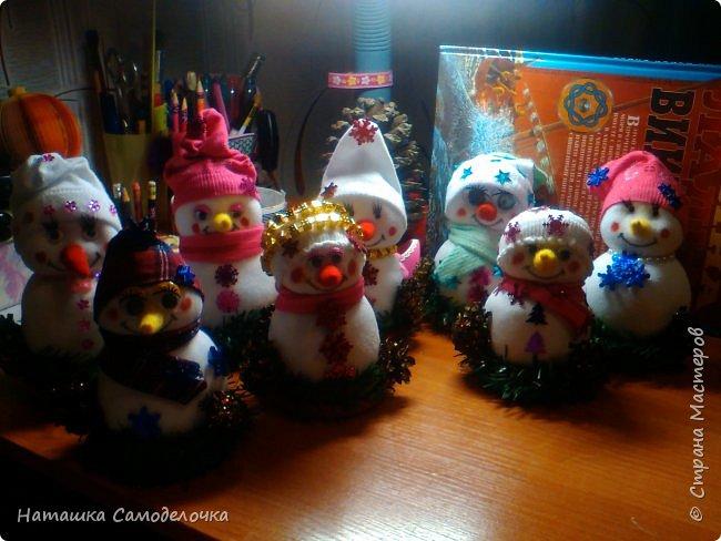 Привет,вот такие получились снеговики, всем хватит)))8 штук.Приятного просмотра. фото 6