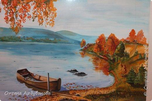 Картина выполнена гуашью,это Усть-Катавский пейзаж,точнее пруд. фото 1