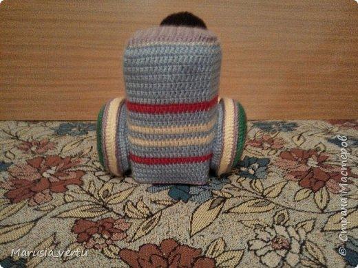 Первый опыт вязания игрушки без описания, просто по рисунку.  фото 5