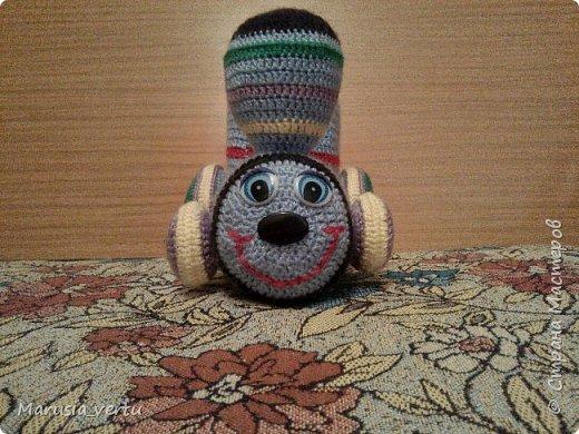 Первый опыт вязания игрушки без описания, просто по рисунку.  фото 2