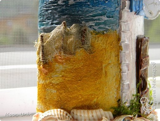 Всем привет!) Ну вот, вся СМ к Новому году готовится, а у меня еще не все летние работы показаны) Начну, пожалуй, с самой летней работы, с рыбацкого домика у моря.   фото 11