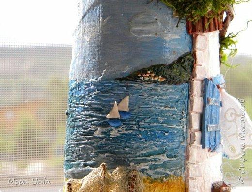 Всем привет!) Ну вот, вся СМ к Новому году готовится, а у меня еще не все летние работы показаны) Начну, пожалуй, с самой летней работы, с рыбацкого домика у моря.   фото 12