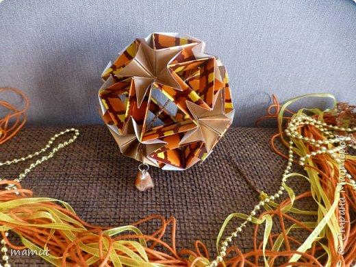 Кусудама Томоко Фусе. Бумага для оригами, бумага для аппликаций. фото 1