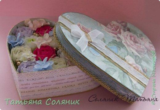 Сердце на свадьбу. Коробка своя.  фото 2