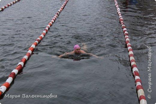 В этом году мы с мужем активно плаваем  с самого лета и.... по сию пору. Ну и тут втянули некоторые личности ( не буду называть их имена)  нас в авантюру-соревнования по зимнему плаванию. фото 6