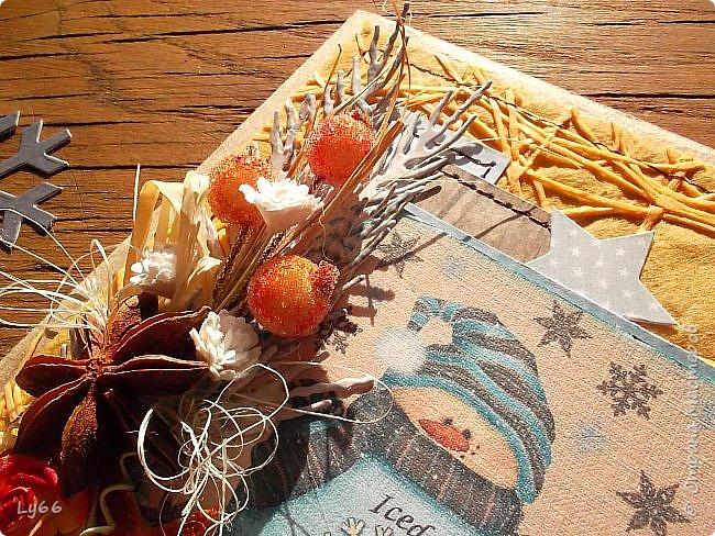 Здравствуйте, мои хорошие! Покажу сегодня порцию новогодних открыточек - решила в этом году подготовиться пораньше))) Много рассказывать не буду - лучше покажу))) фото 8