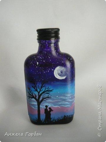 Бутылку разрисовала по мк http://stranamasterov.ru/node/1000585?c=favorite фото 1