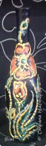 Все работы расписаны в ручную, с использованием акриловый красок, поверхность бутылки была изначально прогрунтована водоимульсионной краской с пва.  фото 16