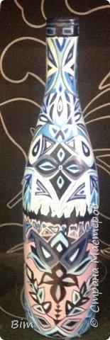 Все работы расписаны в ручную, с использованием акриловый красок, поверхность бутылки была изначально прогрунтована водоимульсионной краской с пва.  фото 7