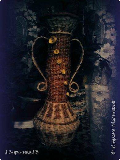 Сплела для себя напольную вазу)))) фото 12