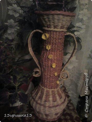 Сплела для себя напольную вазу)))) фото 10