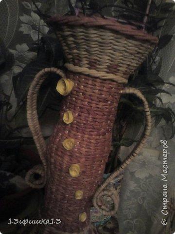Сплела для себя напольную вазу)))) фото 11