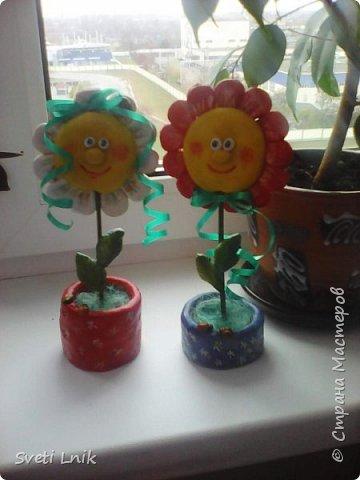 Захотелось чего-то веселенького,Порыскав по интернету наткнулась на такие цветочки,решила схомячить и вот что у меня получилось))) фото 1