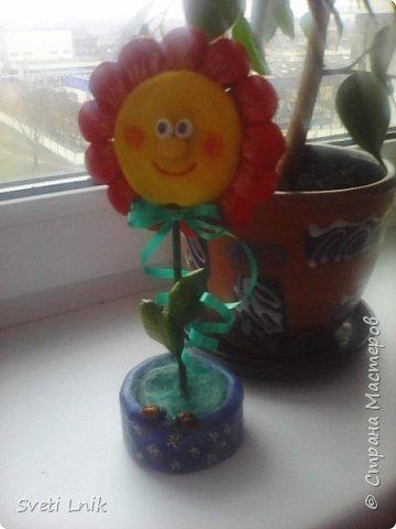 Захотелось чего-то веселенького,Порыскав по интернету наткнулась на такие цветочки,решила схомячить и вот что у меня получилось))) фото 3