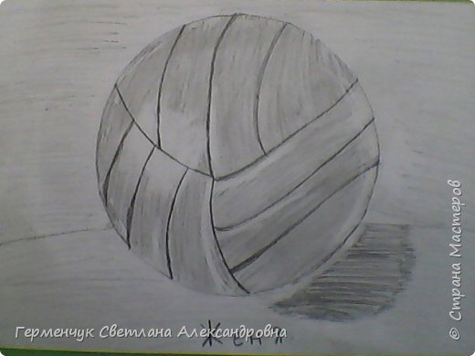"""Работы моих ребят  4 класса по теме урока """"Мяч.Графика"""" У всех получились мячи на 10 баллов! (   оценка знаний в Беларуси- по десятибалльной системе.Жаль ,что по изобразительному искусству учащиеся в начальной школе не оцениваются)  фото 2"""