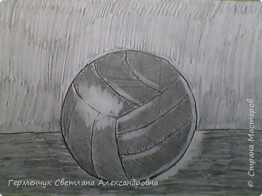 """Работы моих ребят  4 класса по теме урока """"Мяч.Графика"""" У всех получились мячи на 10 баллов! (   оценка знаний в Беларуси- по десятибалльной системе.Жаль ,что по изобразительному искусству учащиеся в начальной школе не оцениваются)  фото 3"""