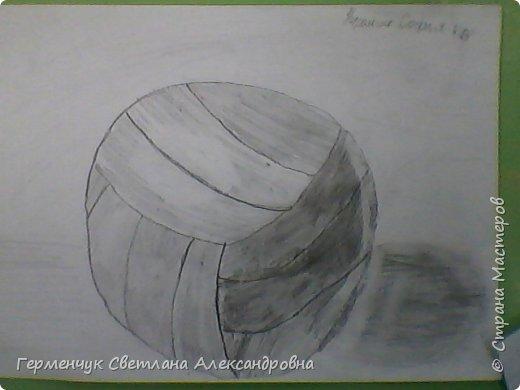 """Работы моих ребят  4 класса по теме урока """"Мяч.Графика"""" У всех получились мячи на 10 баллов! (   оценка знаний в Беларуси- по десятибалльной системе.Жаль ,что по изобразительному искусству учащиеся в начальной школе не оцениваются)  фото 8"""