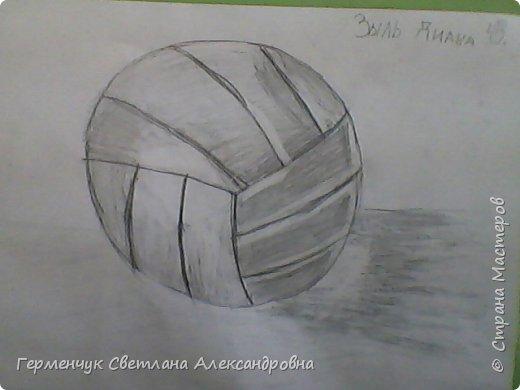 """Работы моих ребят  4 класса по теме урока """"Мяч.Графика"""" У всех получились мячи на 10 баллов! (   оценка знаний в Беларуси- по десятибалльной системе.Жаль ,что по изобразительному искусству учащиеся в начальной школе не оцениваются)  фото 17"""