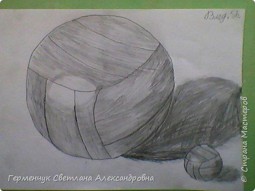 """Работы моих ребят  4 класса по теме урока """"Мяч.Графика"""" У всех получились мячи на 10 баллов! (   оценка знаний в Беларуси- по десятибалльной системе.Жаль ,что по изобразительному искусству учащиеся в начальной школе не оцениваются)  фото 18"""